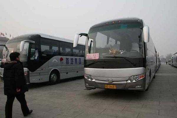 首汽巴士旅游公司圆满完成主流媒体采访用车保障任务