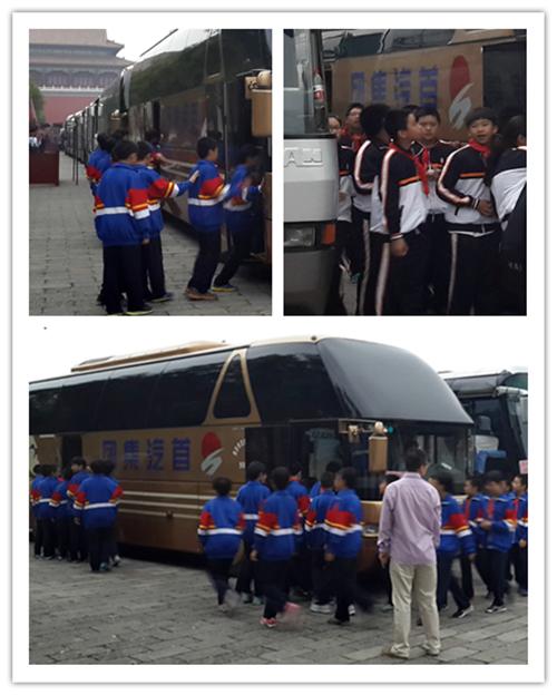 首汽巴士完成中小学学生天安门广场观看升旗活动交通服务任务