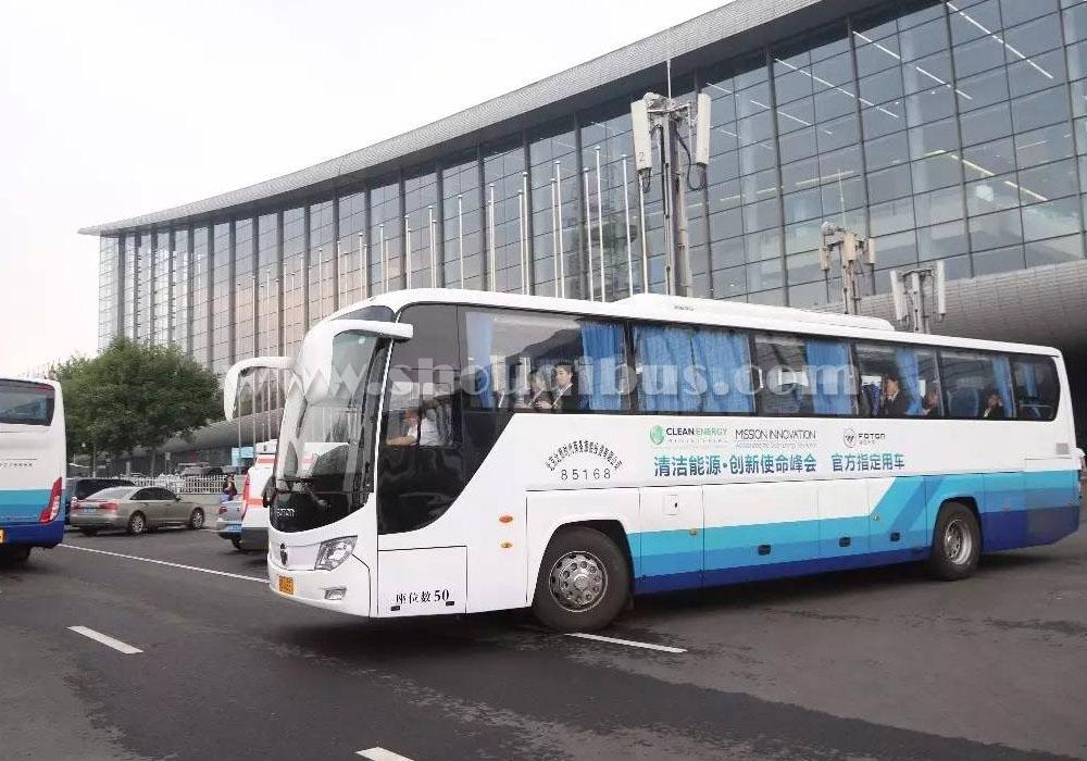 北京福田大巴车租赁,51座福田OV客车出租